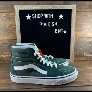 Vans SK8- HI Womens Shoes in Forest Green